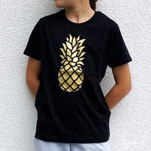 T-shirt ananas doré enfant