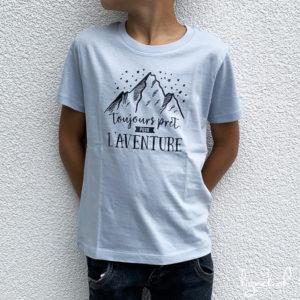 T-shirt toujours prêt pour l'aventure