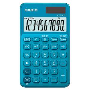Calculatrice 10 chiffres turquoise CASIO