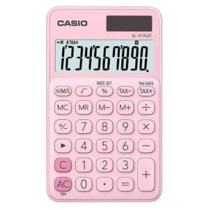 Calculatrice 10 chiffres rose CASIO