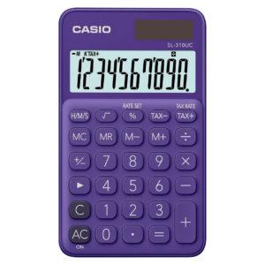 CASIO Calculatrice 10 chiffres violette