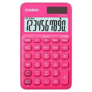 Calculatrice 10 chiffres fuchsia CASIO