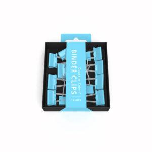 Pince clip bleu ROOST 2X9X9 cm, 12 pièces
