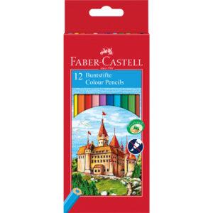 Crayons de couleur FABER-CASTELL - 12 pièces