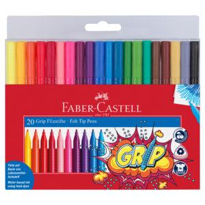 FABER-CASTELL Grip feutres 20 couleurs