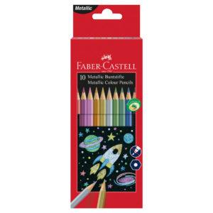 Crayons de couleurs métalliques FABER-CASTELL - 10 pièces