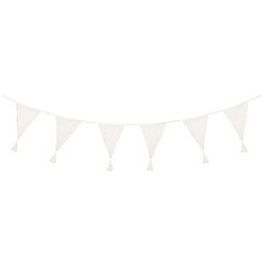 Banderole textile 4m blanc naturel JABADABADO