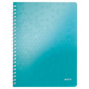Cahier LEITZ libre spirale WOW turquoise 80 flls.