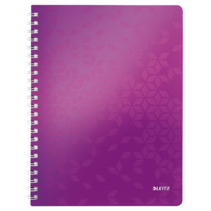Cahier LEITZ libre spirale WOW violet 80 flls.