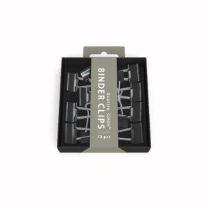 Pince clip noir ROOST 2X9X9 cm, 12 pièces