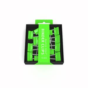 Pince clip verte ROOST 2X9X9 cm, 12 pièces