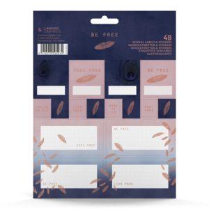 Étiquettes autocollantes plumes