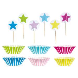 Set cupcake JABADABADO bleu/rose/vert/jaune